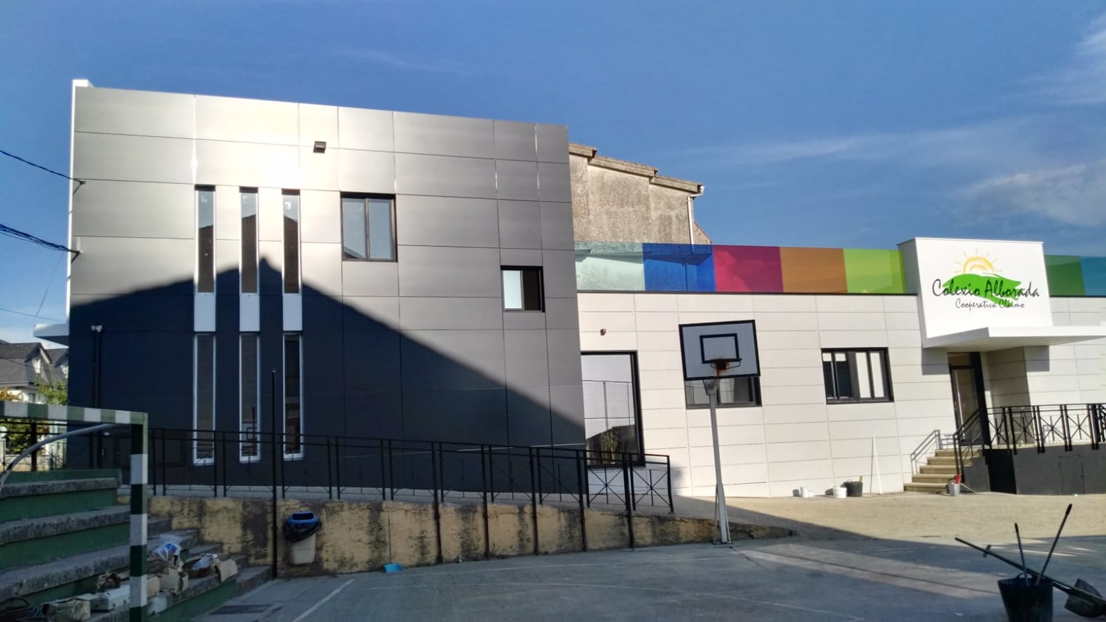 Reforma de colegio en vigo mui os carballo arquitectos - Arquitectos en vigo ...